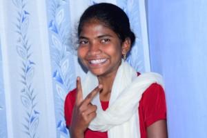 Usharani, back to her perky and cheeky self!