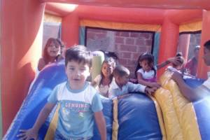 Children in the Jump castle @ the christmas event
