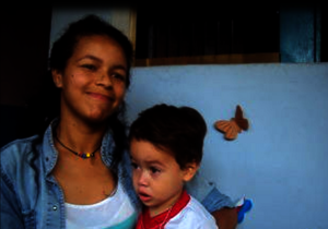 Leny and her baby Dilan