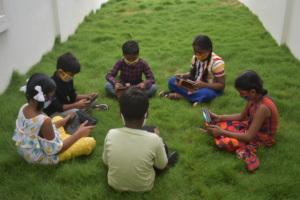 Children on Tablets