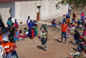 Children playing at Santa Catarina