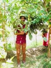 Global Giving Visitor in Kamli's Organic Farm