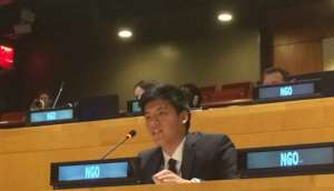 PEAC Youth Delegate Speaking at UN, NYC