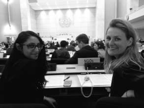 Youth Delegates before speech to UN in Geneva