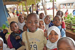 Students at Valley Bridge Primary School, Nairobi