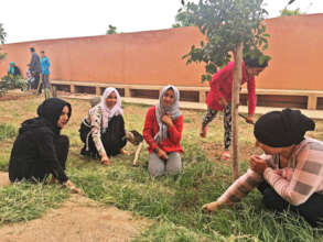Clearing space for a garden at the dar taliba