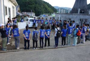 Volunteers gathered from all over Japan