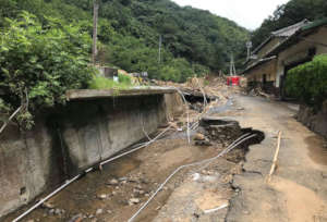 Damage caused by flooding