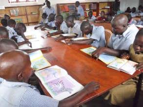 Students Reading at Agwata School Library