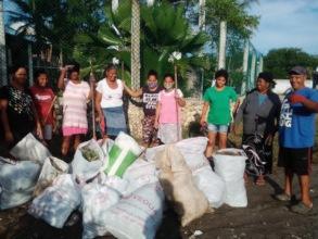 Local volunteers during clean up efforts.