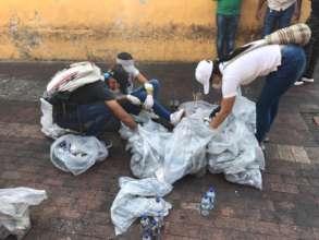 Clean-up day in Portal de los dulces