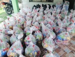 Food for 92 families for 1 month.