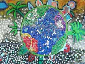 Eco mural in Punta Arena
