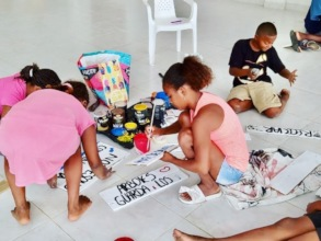 Artists at work - environmental art workshop