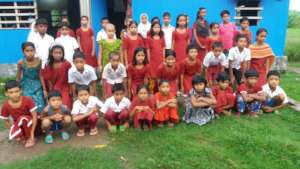 Kawra children at school premises