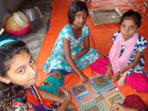 Kawra girls playing at home
