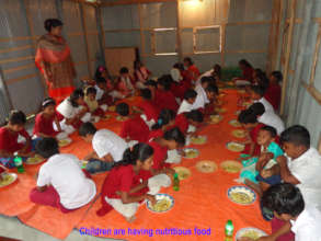 Nutrition Feed for children at coaching time