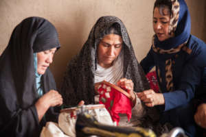 Women Learning Embroidery
