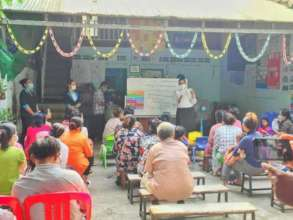 Parent meeting on how to prevent child from COVID