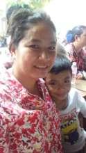 Mum visiting the school.