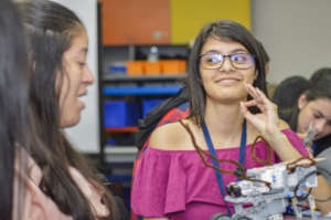 Robotics course for young women with disabilities
