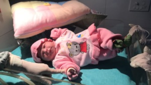 Baby girl delivered at our Hospital