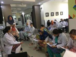 Doctors at our hospital filling questionnaire