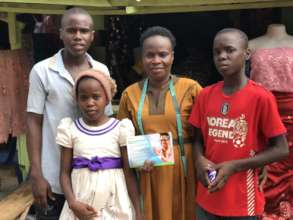 Beneficiary and her children