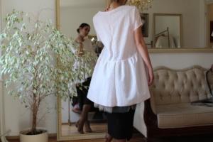 Maternal Cotton Top with Peplum