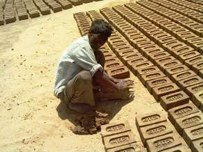 Brick making is menial labor