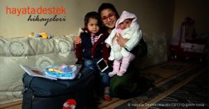 Aliya's children with STL field-team member Selma