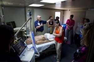 Touring infectious disease treatment protocols.