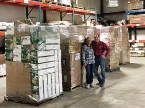 Joe & Amy, with pallets bound for North Carolina!