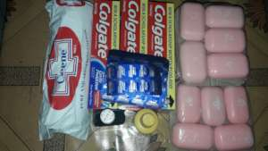 Hygiene items in kit