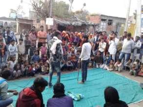 Theatre performance a village close to Bodal