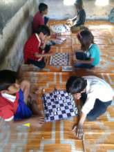 Chess Club at the Uday Community School Jaganpura