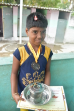 Happy Child - Received many medals and prizes!!