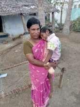 Vasuki with her mother