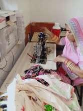 Using a treadle sewing machine