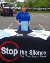Pam at Stop the Silence table_Fairfax, VA 2017