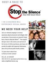 Stop the Silence Race flyer