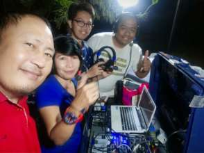 Team rebuilding radio station (Photo courtesy FRR)