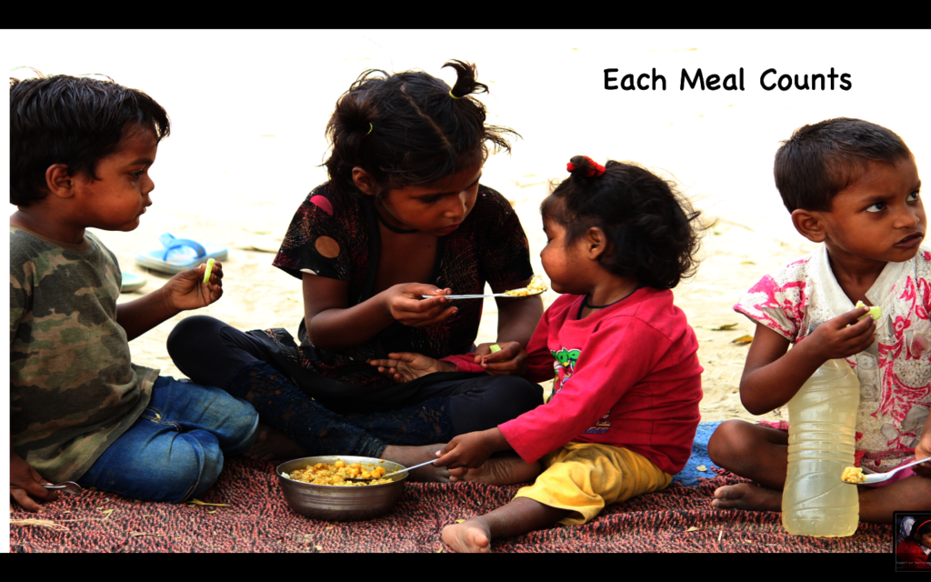 Micro Donations to feed children in need in India