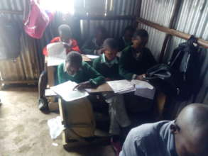 children in an on going test