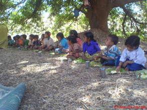 Children Taking Lunch