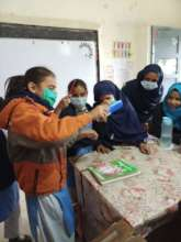 Students participating in science activities