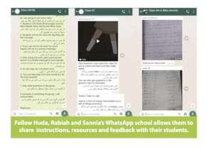 What a WhatsApp Classroom looks like