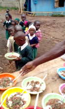 Children take Lunch at Compassion School School.jp