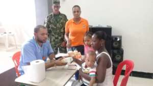 Families receive medicines and nutritional support