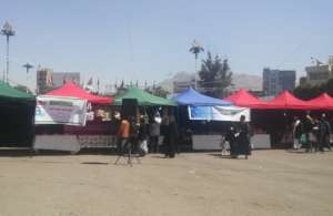 Thursday market for productive families in Sana'a